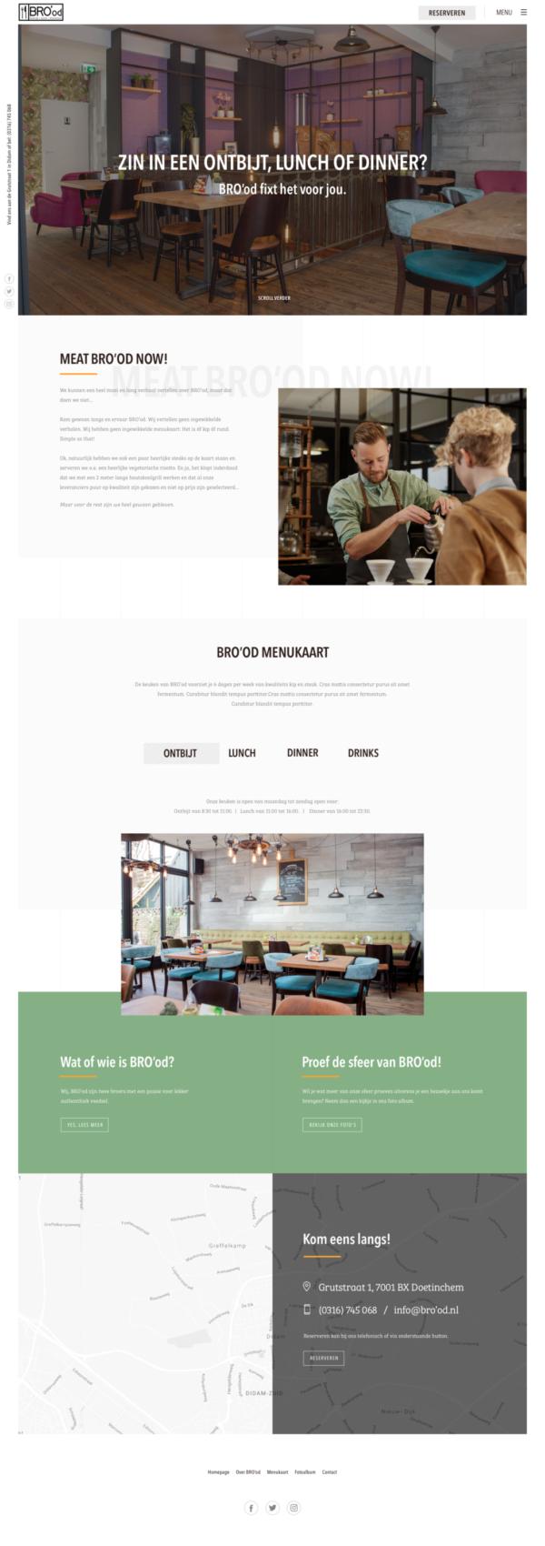 Homepage Brood website