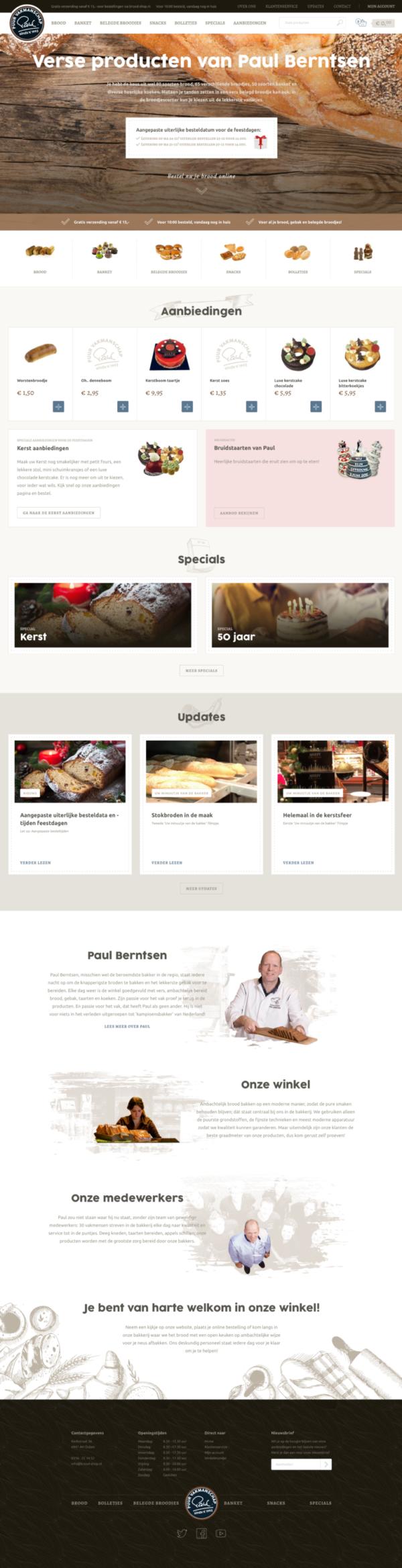 Webdesign Brood-shop.nl