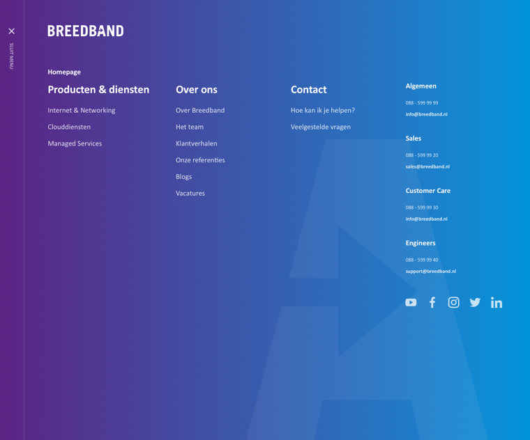 Menu-Breedband