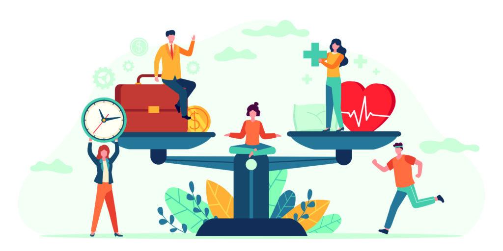Balans tussen werk en prive