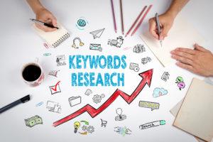 Zoekwoordenonderzoek voor het vullen van een website