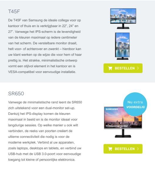 Voorbeeld van een HTML e-mail design